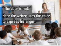 "Tumblr, Blog, and Express: The doorisred""  Here the writer uses the color  to express his anger. awesomesthesia:  Why must a make a title?"