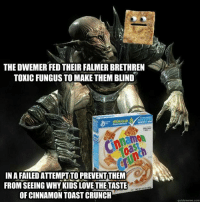 The Warlock is, in fact, not dead, but merely preoccupied for the time.   ~DwemerianWarlock: THE DWEMER FED THEIR FALMER BRETHREN  TOXIC FUNGUS TO MAKE THEM BLIND  IN A FAILED ATTEMPTITO PREVENTITHEM  FROM SEEING WHY KIDS LOVE THE TASTE  OF CINNAMON TOAST CRUNCH  quickmeme com The Warlock is, in fact, not dead, but merely preoccupied for the time.   ~DwemerianWarlock