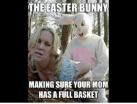 mom meme: THE EASTER BUNNY  MAKING SURE YOUR MOM  HAS A FULL BASKET