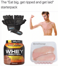 "Gym, Lean, and Aids: The ""Eat big, get ripped and get aid""  starter pack  BODYGFIT  @jones thesavage  BODY  FORTRESS  SUPER ADVANCED  WAVHEY  PROTEIN  SCIENTIFICALLY DESIGNED Wmi  PREMIUM WHEY PROTUN  OVER GRAMS OF BCAAs  CRYSTALLINE TAURINE  LEAN MASS ACTIVATORS  CHOCOLATE 😂😂😂 @jonesthesavage"