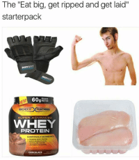 """Gets Laid: The """"Eat big, get ripped and get laid""""  starter pack  BODYGFIT  60g  PROTEIN  BODY FORTRESS  SUPER ADVANCED  WWHEY  PROTEIN  SCIENTIFICALLY DESIGND WIT  PREMIUM WMEY PROTEIN  CRYSTALLINE TALARINI  LEAN MASS ACTNATORS  CHOCOLATE"""
