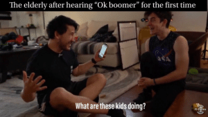 """The fitnessgram pacer test is a multistage aerobic capacity test that progressively gets more difficult.....: The elderly after hearing """"Ok boomer"""" for the first time  SA  What are these kids doing?  PS EXpress The fitnessgram pacer test is a multistage aerobic capacity test that progressively gets more difficult....."""