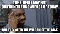 Advice, Life, and Tumblr: THE ELDERLY MAY NOT  CONTAIN THE KNOWLEDGE OF TODAY,  penino  Mon  E-Thur  BUT THEY OFFER THE WISDOM OF THE PAST  mgfip.com advice-animal:  Valuable life lessons