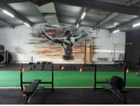 That is one epic mural.  Gym Memes: THE ELITE That is one epic mural.  Gym Memes