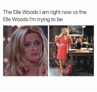 Memes, Girl, and 🤖: The Elle Woods I am right now vs the  Elle Woods I'm trying to be Always trying to glow up. Go follow my girl @girlsthinkimfunny 💕💕