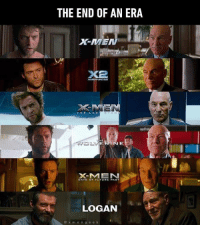 Dank, 🤖, and Era: THE END OF AN ERA  ERIN E  DAYS OF FUTURE PAST  LOGAN  x m e n g e e k There aren't any more guns in the valley.  http://9gag.com/gag/aYxYQ6V?ref=fbpic