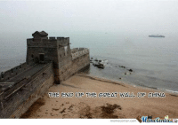 Disappointed, Huh, and Memes: THE END OF THE GREAT WALL OF CHINA  Munetenler  memecenter-Com Kinda disappointing, huh?