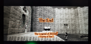 """So I finally got around and finished my first Legend of Zelda game, and I would have to say, it was a fantastic game: The End  The Legend of ZELDA  Ocarina of Time""""  TH So I finally got around and finished my first Legend of Zelda game, and I would have to say, it was a fantastic game"""