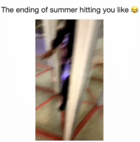 Memes, Summer, and 🤖: The ending of summer hitting you like Worst thing ever! 😂 Credit: @_.englishhhh._