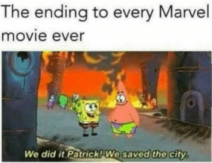 Funny, Avengers, and Marvel: The ending to every Marvel  movie ever  We did it Patrick! We saved the city  saved the Avengers, Im looking at you. via /r/funny https://ift.tt/2AJ9zNv