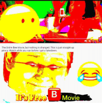 Bee Movie: The Entire Bee Movie, but nothing is changed. This is just straight up  piracy. Watch while you can before I get a takedown.  piracy. Watch while you can before  takedown.  Movie