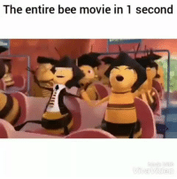 Bee Movie, Funny, and Lol: The entire bee movie in 1 second Damn just like that lol HoodClips