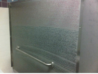 The entire first chapter of Harry Potter on a bathroom stall wall.: The entire first chapter of Harry Potter on a bathroom stall wall.