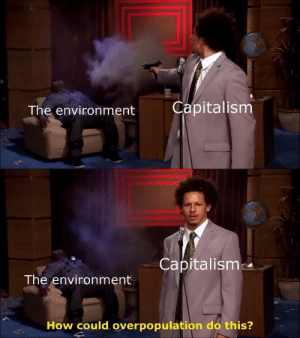 Capitalism, How, and Overpopulation: The environment  Capitalism  Capitalism  The environment  How could overpopulation do this?