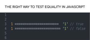 The equality operator in Javascript.: The equality operator in Javascript.