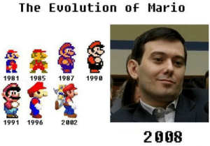 Mario, Evolution, and The: The Evolution oF Mario  1981 1985 1987 1990  1991 1996  2002  2008 https://t.co/P9R7u4pe6v