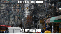 The existing code at my new job: THE EXISTING CODE'.'  DE CRED  S/ JUROS  AT MY NEW JOB The existing code at my new job