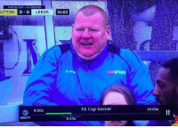 Memes, DirecTV, and 🤖: THE FA CUP 4TH ROUND  UTTON  O O LEEDS  8:00a  DIRECTV  34:02  8:35a  vatuarama  FA Cup Soccer  10:00a When you realise Sutton Utd's 45-year-old reserve goalkeeper Wayne Shaw is into the FA Cup 5th Round! 👏