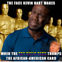kevin hart face: THE FACE KEVIN HART MAKES  WHEN THETECI TRUMPS  THE AFRICAN-AMERICAN CARD