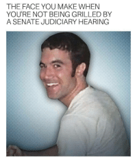Judiciary: THE FACE YOU MAKE WHEN  YOU'RE NOT BEING GRILLED BY  A SENATE JUDICIARY HEARING