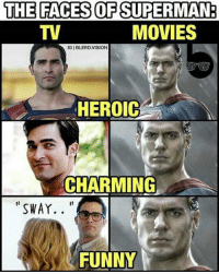 {Superman52}: THE FACES OF SUPERMAN:  MOVIES  IGIBLERD,VISION  HEROIC  CHARMING  SWAY  FUNNY {Superman52}