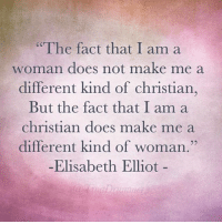 "Well done, Elisabeth Elliot. Well done. Amazing woman of God. --------------- ElisabethElliot WomanofGod GodlyWoman ChristianWoman reformedwoman reformedwomen: ""The fact that I am a  woman does not make me a  different kind of christian,  But the fact that I am a  Christian does make me a  different kind of woman.""  Elisabeth Elliot Well done, Elisabeth Elliot. Well done. Amazing woman of God. --------------- ElisabethElliot WomanofGod GodlyWoman ChristianWoman reformedwoman reformedwomen"
