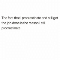 Girl Memes, Vicious, and Reason: The fact that I procrastinate and still get  the job done is the reason l stil  procrastinate It's a vicious cycle, really