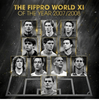 Memes, World, and 🤖: THE FIFPRO WORLD XI  OF THE YEAR 2007/2008 The FIFPro World XI Of The Year sejak 2008-2016 🔥 Mana favorit kalian gaes? 😍😍😍