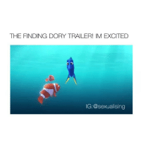 Finding Dory, Excite, and Girl Memes: THE FINDING DORY TRAILER! IM EXCITED  IG:@sexualising can't wait