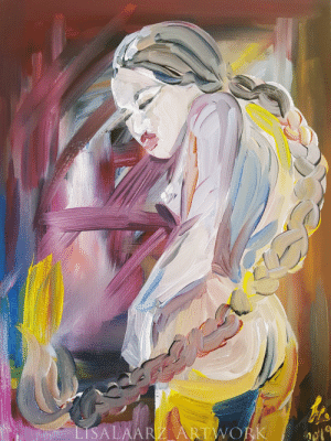 America, Tumblr, and Blog: the-fine-art-america:  'Nude expression', oil painting, 16×12 canvas.