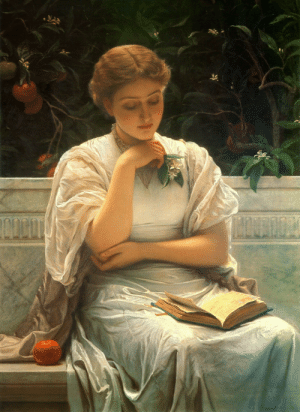"the-fine-art-america:  ""A Girl Reading"", Charles Edward Perugini, 1878. [1164x1600]: the-fine-art-america:  ""A Girl Reading"", Charles Edward Perugini, 1878. [1164x1600]"