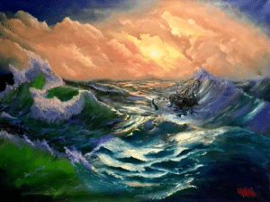"the-fine-art-america:  ""From the depth"". Made by me with oil on a canvas. Inspired by H.P.Lovecraft and I.K.Aivazovsky. 60x80cm: the-fine-art-america:  ""From the depth"". Made by me with oil on a canvas. Inspired by H.P.Lovecraft and I.K.Aivazovsky. 60x80cm"