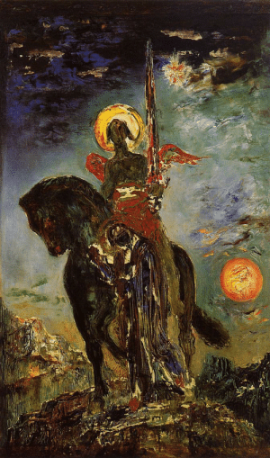 America, Tumblr, and Angel: the-fine-art-america:Gustave Moreau, The park and the angel of death, 1890