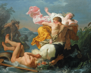 America, Tumblr, and Blog: the-fine-art-america:  Louis-Jean-François Lagrenée, The Abduction of Deianeira by the Centaur Nessus - 1755 (2,623×2,108)