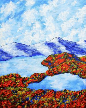 America, Tumblr, and Blog: the-fine-art-america:  Whiteface Mountain, acrylic, 16 x 20 [3088 x 3882]