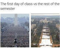 The shit gets boring 😂: The first day of class vs the rest of the  semester The shit gets boring 😂
