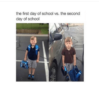 Bitch, Memes, and Rap: the first day of school vs. the second  day of school One more day and it's a rap billy going to school and going straight call of duty 360 no scope off the top of the teachers desk he gonna fuck around and get a kill-streak out that bitch 😂😂😂