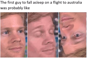 180° flip = content by kwlzyr MORE MEMES: The first guy to fall asleep on a flight to australia  was probably like 180° flip = content by kwlzyr MORE MEMES