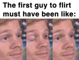 me_irl: The first guy to flirt  must have been like:  31 me_irl