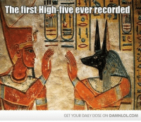 Memes, 🤖, and Damned: The first High-five everrecorded  GET YOUR DAILY DOSE ON DAMNLOLCOM Damn! LOL: First High Five Ever