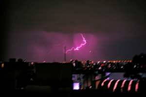 The first lightning strike I've ever caught! Best picture I've ever taken even thought it's blurry.: The first lightning strike I've ever caught! Best picture I've ever taken even thought it's blurry.