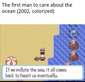 Never knew this was a thing: The first man to care about the  ocean (2002, colorized)  If we pollute the sea, it all comes  back to haunt us eventually. Never knew this was a thing
