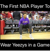 Yeezys are a lucky charm! 🍀Swaggy P got his first and only assist to Kobe during his time on the Lakers rocking them!😂🔥 • • • Tag @swaggyp1 3 times below without INTERRUPTION! ThanksSwaggy _____________________________________________________ Lakers Lalakers TeamLakers DAngeloRussell JordanClarkson JuliusRandle BrandonIngram TheFuture LakersNews LakersGame Kobe KobeBryant BlackMamba Mamba lebronjames Basketball NBA Laker4Life LakersAllDay michaeljordan GOAT LakerNation GoLakers legend @1ngram4 @jordanclarksons @dloading @juliusrandle30 @ivicazubac @larrydn7 @kobebryant shaq drake spikelee NBA nbaallstar @mettaworldpeace37: The First NBA Player To  Wear Yeezvs in a Game Yeezys are a lucky charm! 🍀Swaggy P got his first and only assist to Kobe during his time on the Lakers rocking them!😂🔥 • • • Tag @swaggyp1 3 times below without INTERRUPTION! ThanksSwaggy _____________________________________________________ Lakers Lalakers TeamLakers DAngeloRussell JordanClarkson JuliusRandle BrandonIngram TheFuture LakersNews LakersGame Kobe KobeBryant BlackMamba Mamba lebronjames Basketball NBA Laker4Life LakersAllDay michaeljordan GOAT LakerNation GoLakers legend @1ngram4 @jordanclarksons @dloading @juliusrandle30 @ivicazubac @larrydn7 @kobebryant shaq drake spikelee NBA nbaallstar @mettaworldpeace37