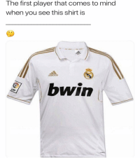 Memes, Mind, and 🤖: The first player that comes to mind  when you see this shirt is  bwin Comment below..