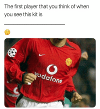 Memes, 🤖, and Player: The first player that you think of when  you see this kit is  vodafone 🤔🤔