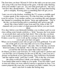 what to do before kissing a girl