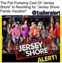 "The Fist Pumping Cast Of ""Jersey Shore"" Is Reuniting for ""Jersey Shore Family Vacation"" – blogged by @MsJennyb ⠀⠀⠀⠀⠀⠀⠀ ⠀⠀⠀⠀⠀⠀⠀ The Cabs Are Here! ⠀⠀⠀⠀⠀⠀⠀ ⠀⠀⠀⠀⠀⠀⠀ On Monday, MTV announced that everyone's favorite Jersey crew will be reuniting for a new reality series set to premiere in 2018. The revival of the series, which followed a group of friends on the shore during a booze-fueled summer break, will include original cast members, including Deena Cortese, PaulyD, Jenni ""JWOWW"" Farley, Vinny Guadagnino, Ronnie Ortiz-Magro, Snooki and Mike ""The Situation"" Sorrentino. ⠀⠀⠀⠀⠀⠀⠀ ⠀⠀⠀⠀⠀⠀⠀ According to reports, the announcement came during the series premiere of the ""Floribama Shore"" spinoff, which followed an almost identical format to the fan-favorite Jersey show. ⠀⠀⠀⠀⠀⠀⠀ ⠀⠀⠀⠀⠀⠀⠀ Now though, after the success of their previous six seasons on the network, creator SallyAnn Salsano will be reviving the popular television series and reuniting the original cast for ""Jersey Shore Family Vacation."" According to Variety, Nina L. Diaz and Jackie French will serve as executive producers for the network. Although it remains unclear if the cast's families will appear on the show, you can bet your bottom dollar that there will be tons of fist pumping and GTL (gym, tan, laundry)!: The Fist Pumping Cast Of ""Jersey  Shore"" ls Reuniting for ""Jersey Shore  Family Vacation"" @balleralert  ERSEY  SHORE  ALERT! The Fist Pumping Cast Of ""Jersey Shore"" Is Reuniting for ""Jersey Shore Family Vacation"" – blogged by @MsJennyb ⠀⠀⠀⠀⠀⠀⠀ ⠀⠀⠀⠀⠀⠀⠀ The Cabs Are Here! ⠀⠀⠀⠀⠀⠀⠀ ⠀⠀⠀⠀⠀⠀⠀ On Monday, MTV announced that everyone's favorite Jersey crew will be reuniting for a new reality series set to premiere in 2018. The revival of the series, which followed a group of friends on the shore during a booze-fueled summer break, will include original cast members, including Deena Cortese, PaulyD, Jenni ""JWOWW"" Farley, Vinny Guadagnino, Ronnie Ortiz-Magro, Snooki and Mike ""The Situation"" Sorrentino. ⠀⠀⠀⠀⠀⠀⠀ ⠀⠀⠀⠀⠀⠀⠀ According to reports, the announcement came during the series premiere of the ""Floribama Shore"" spinoff, which followed an almost identical format to the fan-favorite Jersey show. ⠀⠀⠀⠀⠀⠀⠀ ⠀⠀⠀⠀⠀⠀⠀ Now though, after the success of their previous six seasons on the network, creator SallyAnn Salsano will be reviving the popular television series and reuniting the original cast for ""Jersey Shore Family Vacation."" According to Variety, Nina L. Diaz and Jackie French will serve as executive producers for the network. Although it remains unclear if the cast's families will appear on the show, you can bet your bottom dollar that there will be tons of fist pumping and GTL (gym, tan, laundry)!"