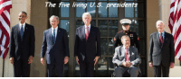 The five living US presidents