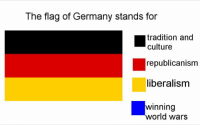 Germany, Help, and World: The flag of Germany stands for  tradition and  culture  republicanism  liberalisnm  winning  world wars +50 Viral Photos That Will Help Bring Pleasure to Your Week #funnypics