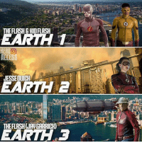 Love, Memes, and Earth: THE FLASH BHIDFLASH  EARTH  HERO O  ALIESS  JESSEOUICH  EARTH  THERLASHURVIGARRICH)  EARTHe3 I totally fell in love with the multiverse concept in Season 2. However, I got pretty burned out with the whole thing during Season 3.😂 Got pretty overbearing pretty fast... ~Lopro⚡️
